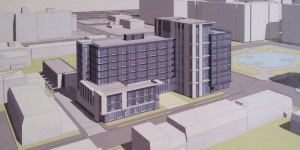 501 I Street SW Buildings Rendering 06.30.15 - Copyright Shalom Baranes Associates