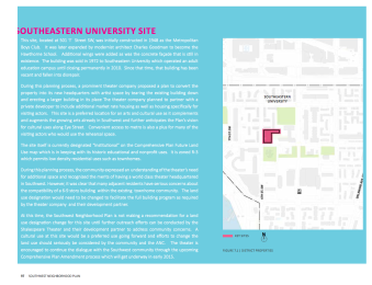 Draft SW Small Area Plan - SEU Site Excerpt